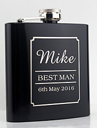 Personalized  Stainless Steel Hip Flasks 6-oz  Flask Gift