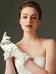 Wrist Length Fingertips Glove Nylon / Elastic Satin Bridal Gloves / Party/ Evening Gloves