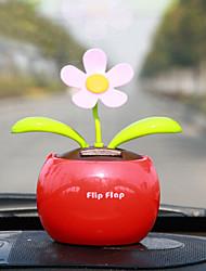 Automatic Swinging Sun Flower Car Decoration