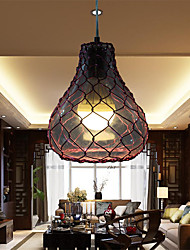 12W Traditional/Classic LED Glass&Aluminum Pendant Lights Living Room / Bedroom / Dining Room / Study Room