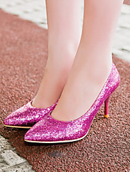Women's Shoes Glitter/Stiletto Heel/Pointed Toe Heels Wedding/Party & Evening/Dress Purple/Silver/Gold