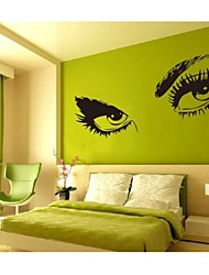 8024 Hepburns Eyes Vinyl Wall Decals Wall Sticker Waterproof Windows Home Decorations 60*115cm