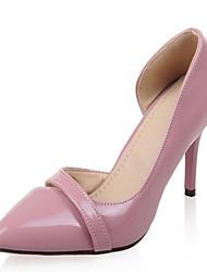 Da donnaFormale / Serata e festa-Tacchi / A punta-A stiletto-Vernice / Finta pelle-Nero / Rosa / Viola / Rosso / Tessuto almond