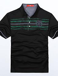 Seven Brand® Men's Shirt Collar Short Sleeve T Shirt Black-70T539288