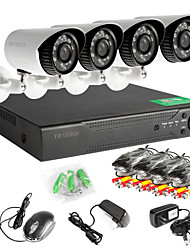 4 Stück ahd Kamera 4ch 720p dvr Outdoor-Home-Video-Überwachungskamera-System