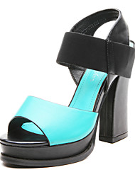 Women's Summer Leather Casual Low Heel Blue