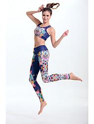 Women's Fashion Bohemia Pattern High Elasticity Yoga Clothing Sets/Suits