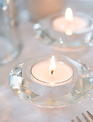 Crystal Diamond-Shaped Tea Light Holder Without Tealight