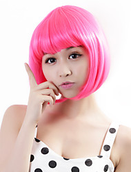 "Neitsi 100% Kanekalon Fiber 14""(35cm) 160g/pc Women's Girl's Cosplay Short Synthetic BOB Hair Wigs Pink"