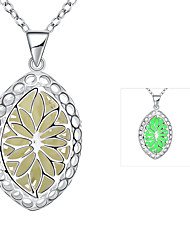 Necklace Pendant Necklaces Jewelry Wedding / Party / Daily Silver Plated Silver / Blue / Green / Purple 1pc Gift