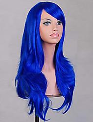 la mode dessin animé de couleur perruques colorées de mascarade spéciale 70 cm perruque bleu