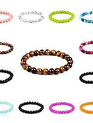 New Arrival 8 Colors Nature Stone Bracelet Strand Bracelets Daily / Casual 1pc Hot Sale Christmas Gifts
