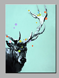 современной абстрактной чистой ручной росписью маслом готовы повесить убранства оленей