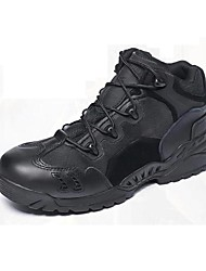 Men's Shoes Outdoor / Office & Career / Work & Duty / Party & Evening / Casual Leather / Canvas Boots Black