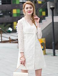 Zishangbaili® Femme Col de Chemise Manche Longues Shirt et Chemisier Blanc-XZ51003
