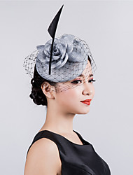 Designed Wedding Party Sinamay Flower Net Fascinator  Wedding Hat