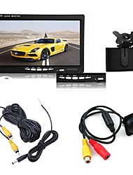 "7"" TFT LCD Car Monitor+ Rear View Backup  Night Vision Camera Parking Kit"