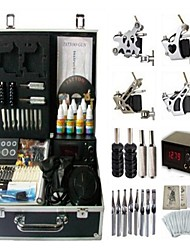 Basekey Tattoo Kit 4 s JHK0104 Machine With Power Supply Grips Cleaning Brush Ink Needles