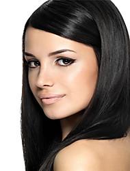 "3pcs / lot 8 ""-34"" pelo virginal brasileño lía tejidos de trama de color natural recto pelo humano negro"