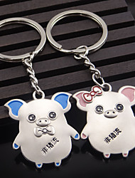 A Pair Pig Keychain - Alloy Products Pig Couple Keychain Creative Gift Custom Gift Metal KeyRing