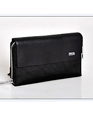 Fine Men's Nylon Genuine Leather Clutch Bag Wallets