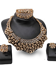 XIXI 18K Gold  Plated Choker Chunky Statement Necklace Imitation Pearl Jewelry Set For Women Multi Layer Necklace Gold
