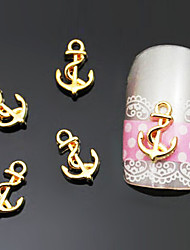 Lovely Mental 9*6MM 3D Nail Jewelry (at Least 10Pcs)