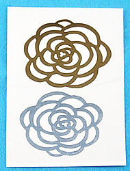 Metallic Paper Women Gold/Silver for Hair Tattoo Stickers