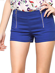 Women's Solid Blue / Pink / Black / Orange Shorts Pants,Casual / Day / Beach