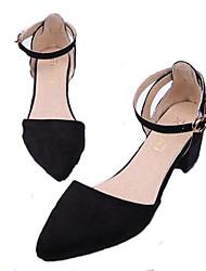 Черный / Зеленый / Розовый / Фиолетовый-Женская обувь-Для праздника-Синтетика-На толстом каблуке-На каблуках-Обувь на каблуках