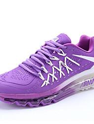 Nike Air Max Chaussure de Jogging Femme Antiusure / Matelas Gonflable Blanc / Rouge / Noir / Bleu / Violet Course Lacet Tissu