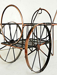 Wrought Iron Wine Rack Wine Rack Copper Vintage Cart Home Wine Cooler