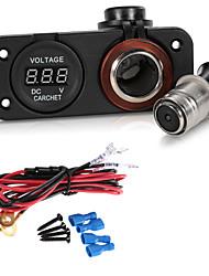 CARCHET Car Motorcycle LED Digital Display Voltmeter Meter