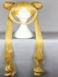 New Stylish Blonde Cosplay Wig Woman's Synthetic Hair Wigs Long Wavy Animated Wigs Party Wigs