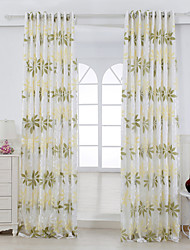 Two Panels Curtain Country Living Room Rayon Material Curtains Drapes Home Decoration For Window