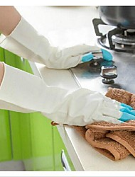 New Latex Rubber Kitchen Long Gloves Dish Washing Cleaning Waterproof Work Glove Random Color