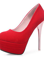 The new sexy fine with ultra-high with waterproof nightclub bride wedding shoes red women's singles shoes with the word