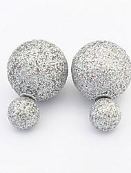 2016 New Stud Earrings Jewelry Brincos Double Sided Round Earrings Fashion Ear Studs
