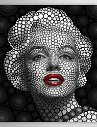 People Marilyn Monroe  Circular Pattern Digital Circlism by Ben Heine Canvas Print From Ready to Hang 7 Wall Arts®