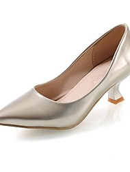 Women's Shoes Patent Leather/Spool Heel/Pointed Toe Heels Office & Career/Dress Black/Yellow/Green/Pink