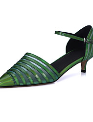 Women's Shoes Pigskin / Patent Leather Stiletto Heel Heels / Ankle Strap / Pointed Toe Sandals / HeelsOffice & Career