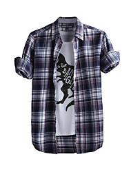 JamesEarl Herren Hemdkragen Lange Ärmel Shirt & Bluse Blau - DA202049104