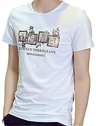 2016 new young men's T-shirt male Crewneck T-shirt summer thin t-shirt t-shirt Japanese tide