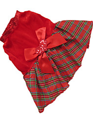 Chien Robe / Vêtements / Vêtements Rouge Hiver Tartan