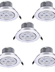 5pcs 7W 7LEDS 750LM Warm/Cool White Color LED Receseed Lights Ceiling Lights(85-265V)
