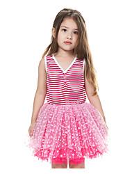 Menina de Vestido Verão Algodão Vermelho