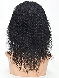 Les femmes brésiliennes couleur de cheveux vierge (# 1 # 1b # 2 # 4) avant perruques de cheveux bouclés