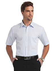 Sieben Brand® Herren Hemdkragen Kurze Ärmel Shirt & Bluse Blau-E99A305953