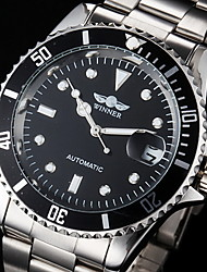 Winner® Men's Dress Watch Fashion Watch Mechanical Watch Wrist watch Automatic self-winding Calendar Water Resistant/Water Proof Luminous