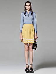 ZigZag® Da donna Colletto Maniche lunghe Shirt & Camicetta Blu - 11361
